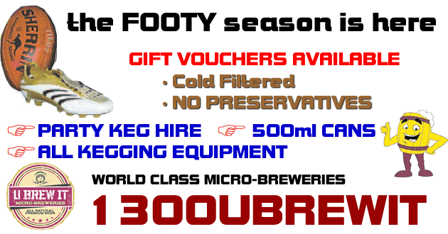footy season ubrewit specials